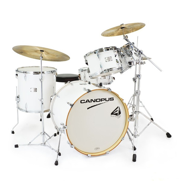 CANOPUS NEW YAIBA GROOVE 5 Piece Kit (Mat White LQ) 【シェルパック+ダブルタムクランプ】
