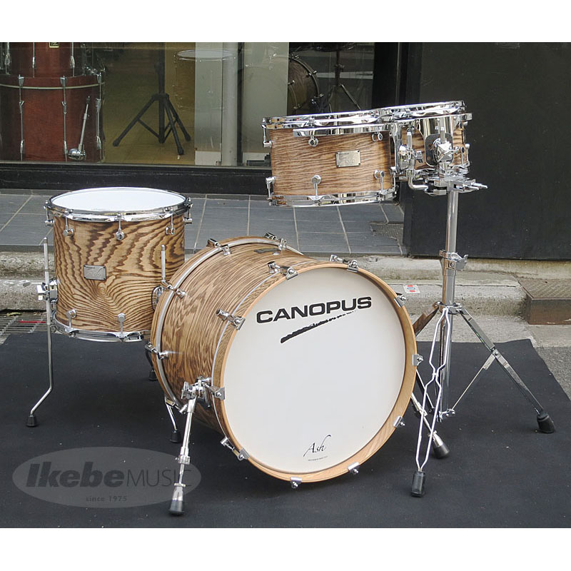 "CANOPUS ""Ash"" Studio Kit [20BD, 14FT, 12 &10TT / Natural Oil Finish] 【ダブルタムスタンド仕様】"