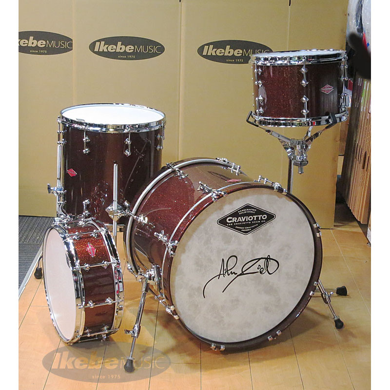 Craviotto Solid Beech 4pc Drum Set:Antique Bronze Sparkle UV LQ Finish [Private Reserve] 【タムマウント用スネアスタンド付属】 【NAMM 2017】