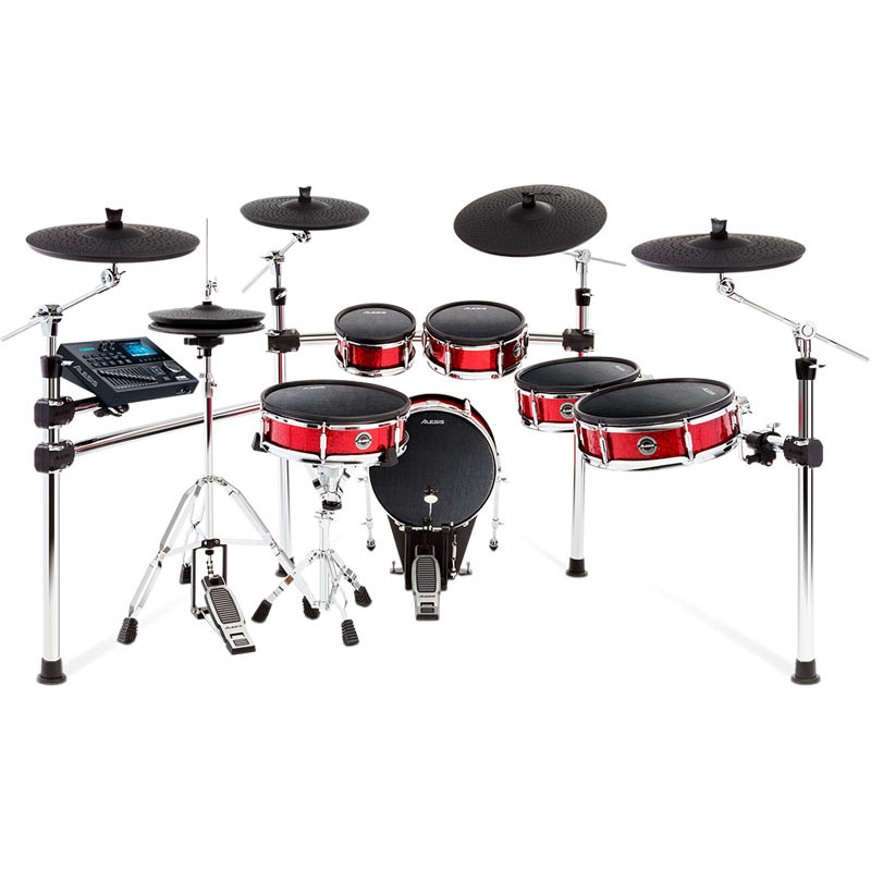 ALESIS Strike Pro Kit [Eleven-Piece Professional Electronic Drum Kit with Mesh Heads] ※ドラムペダル、ハイハット・スタンド別売 【ikbp5】