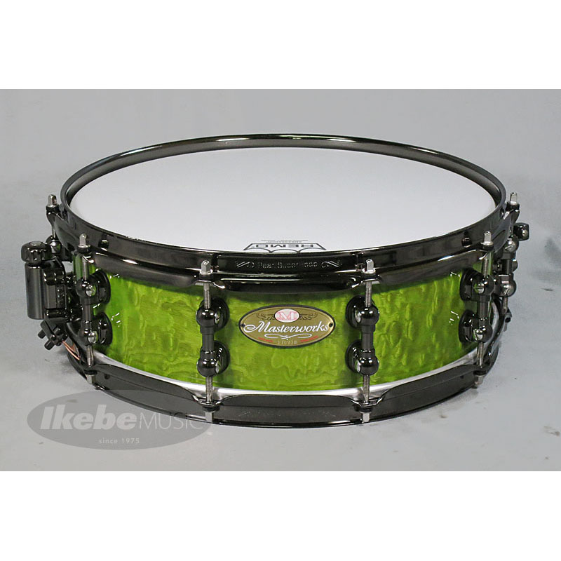 Pearl MWA1445S BN TM (Green Tamo) [Masterworks Sonic-Select Shell Recipes / URBAN] 【BLACK JAM Series Snare Drum Bag付属】