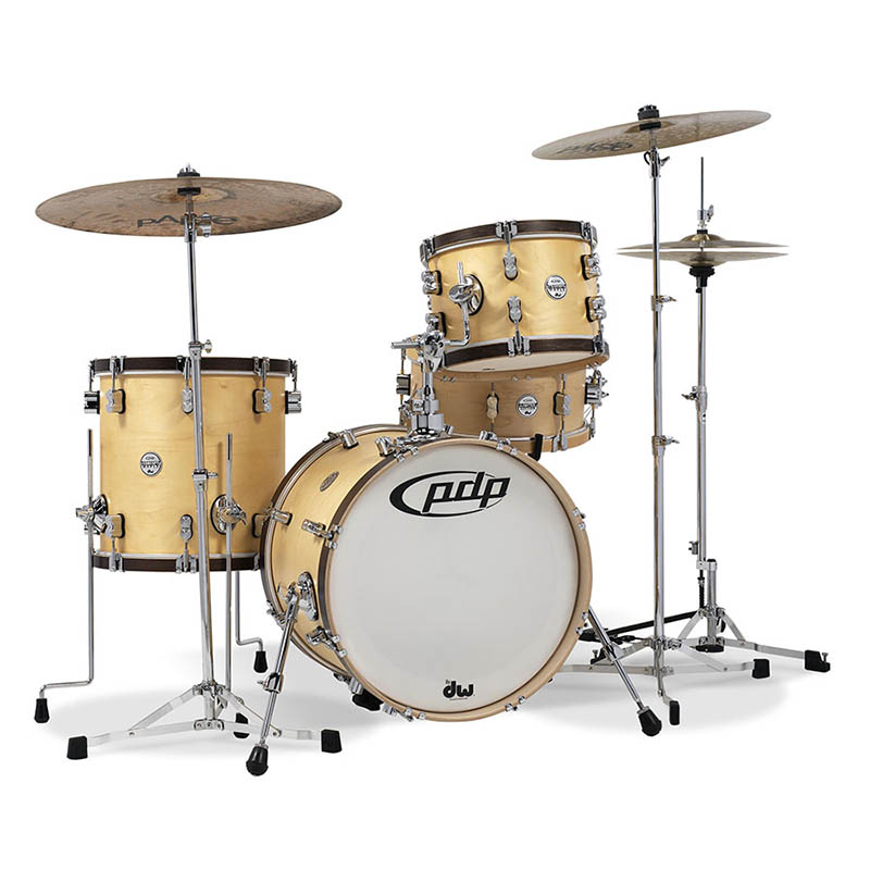pdp by DW Concept Maple Classic Bop 3pc Kit - Natural with Walnut Hoops [PA-PDCC1803/NT]