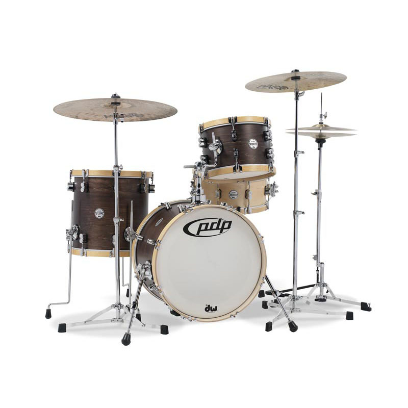 pdp by DW Concept Maple Classic Bop 3pc Kit - Walnut with Natural Hoops [PA-PDCC1803/TM]