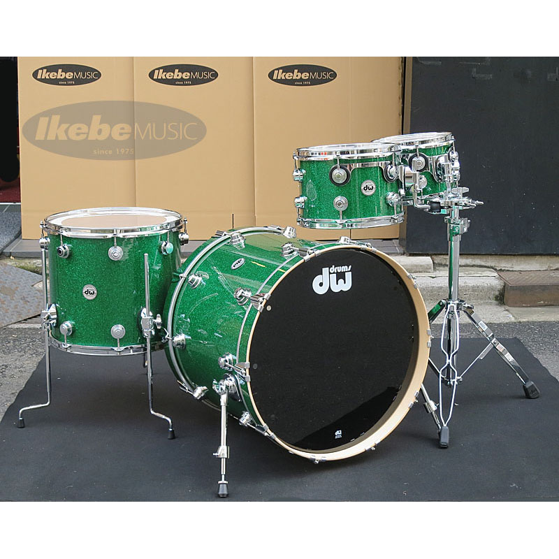 dw Collector's Maple 4pc Drum Set [Green Glass / Chrome Hardware]【ダブルタムスタンド・プレゼント!】