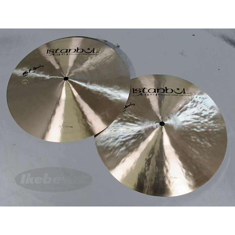 "Istanbul Agop Mel Lewis Series HiHat 13"" pair [Top 764g / Bottom 856g]【トルコツアー2017/現地選定品!】"
