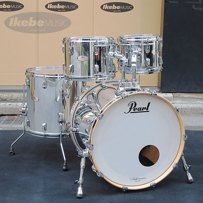 Pearl Reference Series 4pc Drum Set [#426 Mirror Chrome]【タムホルダー(x2)・プレゼント!】【店頭展示チョイキズ特価品】