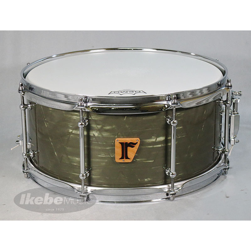 "riddim #06. Vintage Mahogany 14""×6.5"" [Green Marine Pearl Covering/Made in Japan] 【mabanua氏と同仕様モデル!】"