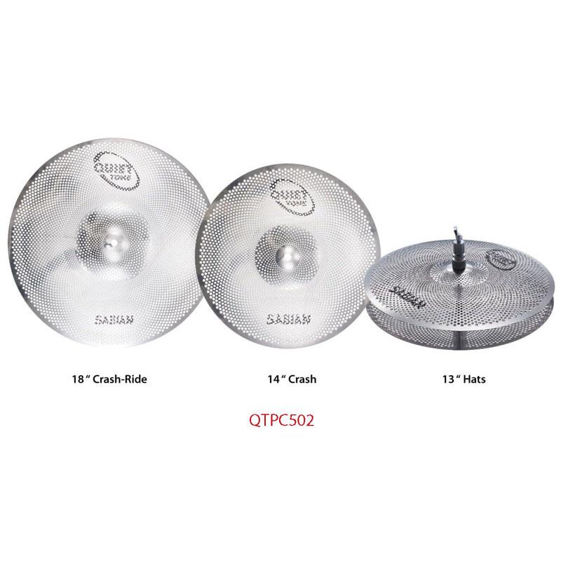 "SABIAN SAB-QTPC502 [QUIETTONE Cymbal Practice Kit (13"" Hats / 14"" Crash / 18"" Crash Ride)]"