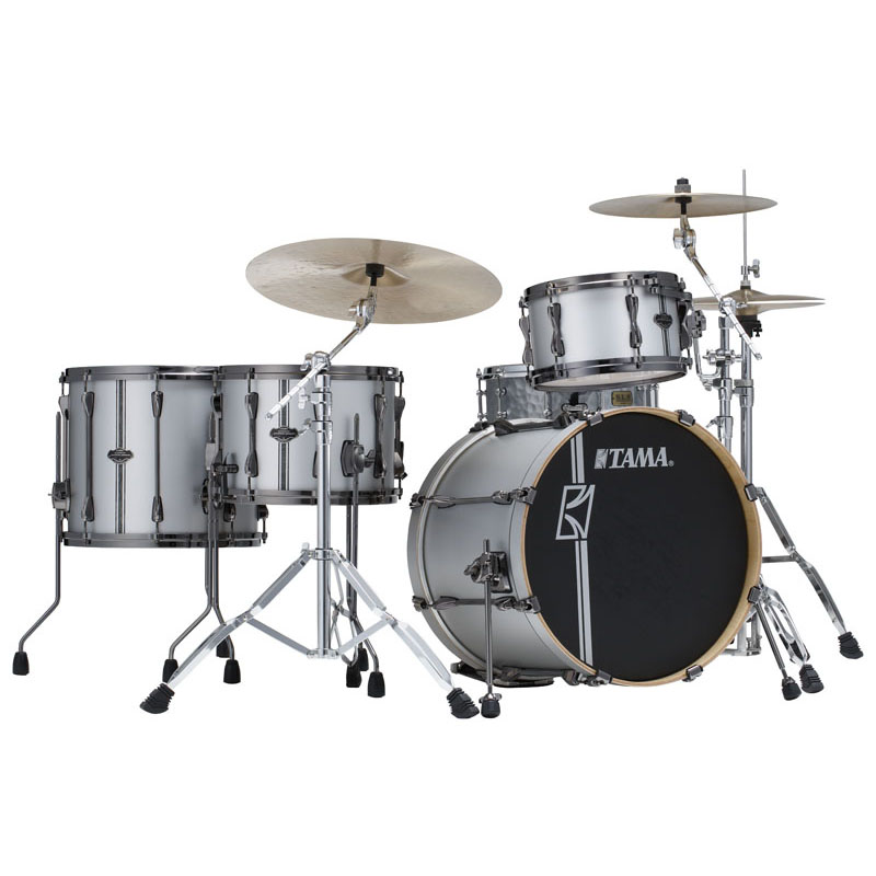 "TAMA ML40HZBN2-SSV [SUPERSTAR HYPER-DRIVE DUO KIT ~ FEATURING 14""x10"" DUO SNARE ~ / Satin Silver Vertical Stripe]【ドラムステーション・限定入荷!】"