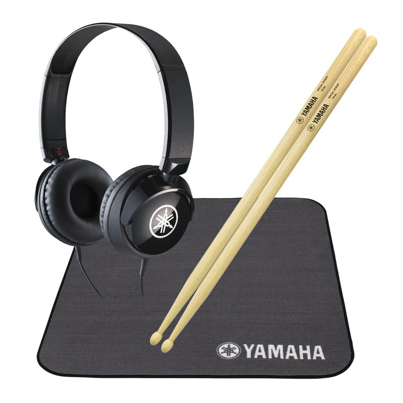 YAMAHA HP5ADM [ドラムスティック + ヘッドフォン + ドラムマット] 【ikbp5】