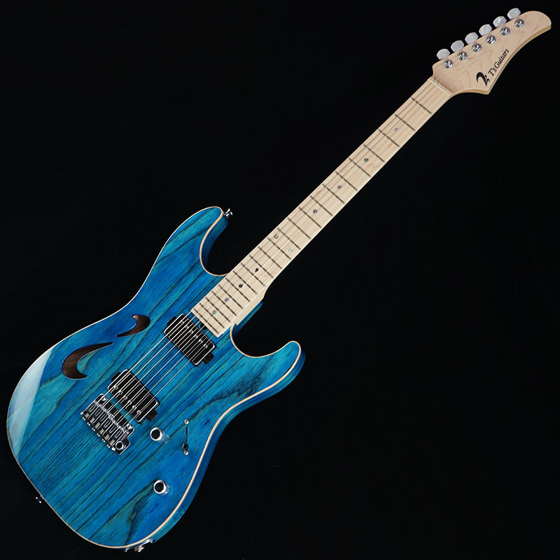 安い割引 T's Guitars DST-Hollow Ash (Trans Blue Denim) w/Buzz Feiten Tuning System 【SN.031957】, 最も完璧な 9a2c31ce