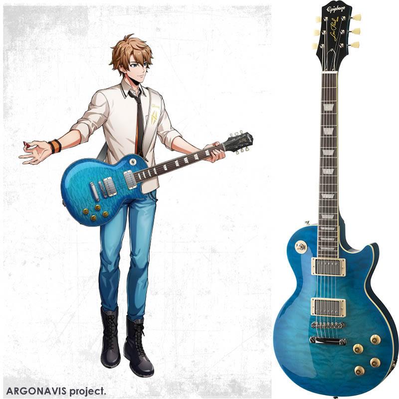 贈答品 大注目 エレキギター Epiphone エピフォン Goryo Yuto Paul Les Burst Standard Blue