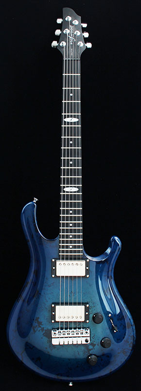 Flaxwood RAUTIA/Trem Exotic Blue Burst Japan Limited
