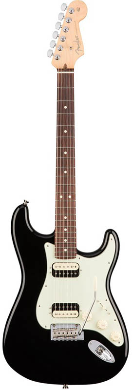Fender American Professional Stratocaster HH Shawbucker (Black/Rosewood) [Made In USA] 【ikbp5】