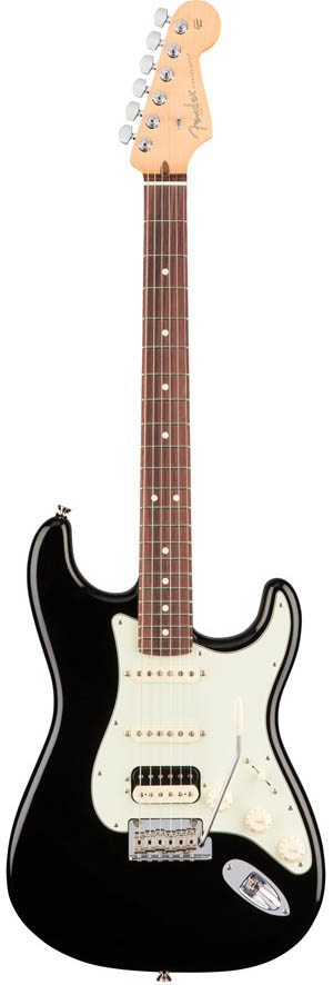 Fender American Professional Stratocaster HSS Shawbucker (Black/Rosewood) [Made In USA] 【ikbp5】