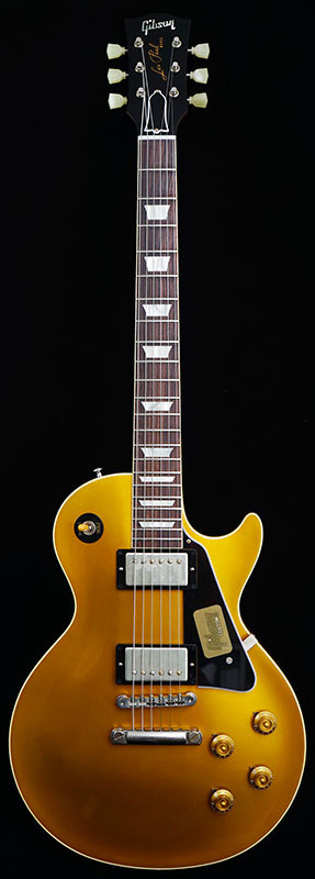Gibson CUSTOM SHOP IKEBE Order Standard Historic 1957 Les Paul Gold Top Reissue With Black Plastic Parts (Antique Gold/Natural Back) #R7 60458 【PGC-GIBSON】 【ikbp5】
