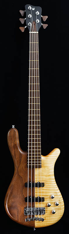 "Warwick Custom Shop Streamer LX5 ""Hand-Selected Walnut on the Bass Side / AAA Coloured Flamed Maple on the Treble Side"" [# K162131-16] 【特価】"