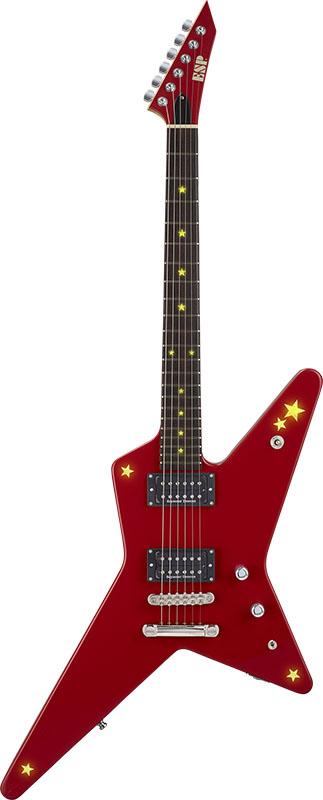 ESP×バンドリ! Collaboration Series Kasumi Toyama Signature Model ESP RANDOM STAR Kasumi -LED- (Kasumi Red) 【受注生産品】