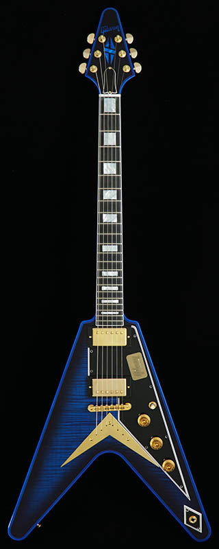 Gibson CUSTOM SHOP Custom Collection Limited Flying V Custom Flame Top Stealth/Blue Widow 【PGC-GIBSON】 【ikbp5】