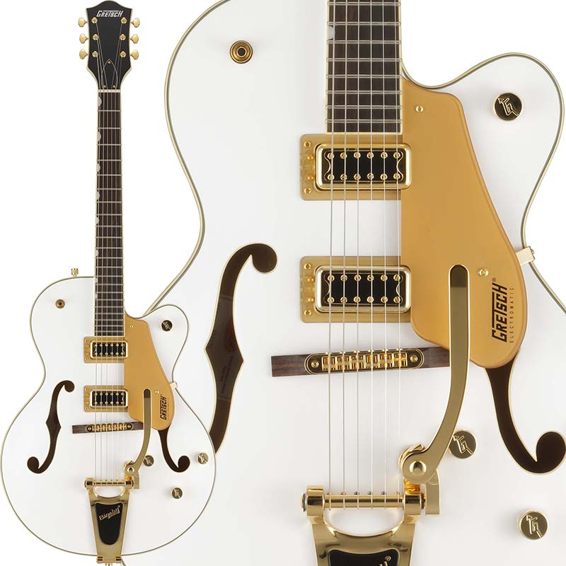 GRETSCH Electromatic Collection G5420TG-FSR Electromatic Hollow Body Single-Cut with Bigsby (White)