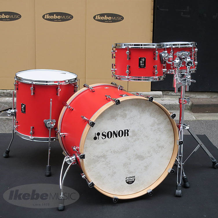 SONOR SQ1-322 + SQ1-1007TT (HRR) [SQ1 Series / (22BD・10 & 12TT・16FT):HOT ROD RED with Double Tom Stand (DTS4000)] 【いち早く2タム仕様をご用意しました!】