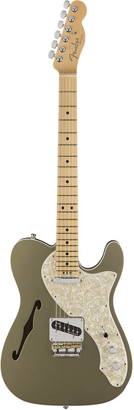 Fender American Elite Telecaster Thinline (Champagne/Maple) [Made In USA] 【特価】