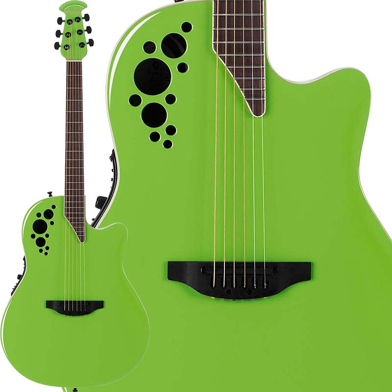 Ovation Elite TX Super Shallow 1868TX Slime Green