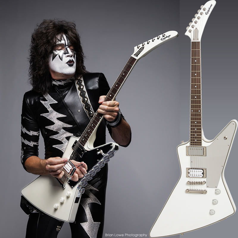 """Epiphone by Gibson Limited Edition Tommy Thayer """"White Lightning"""" Explorer Outfit"""