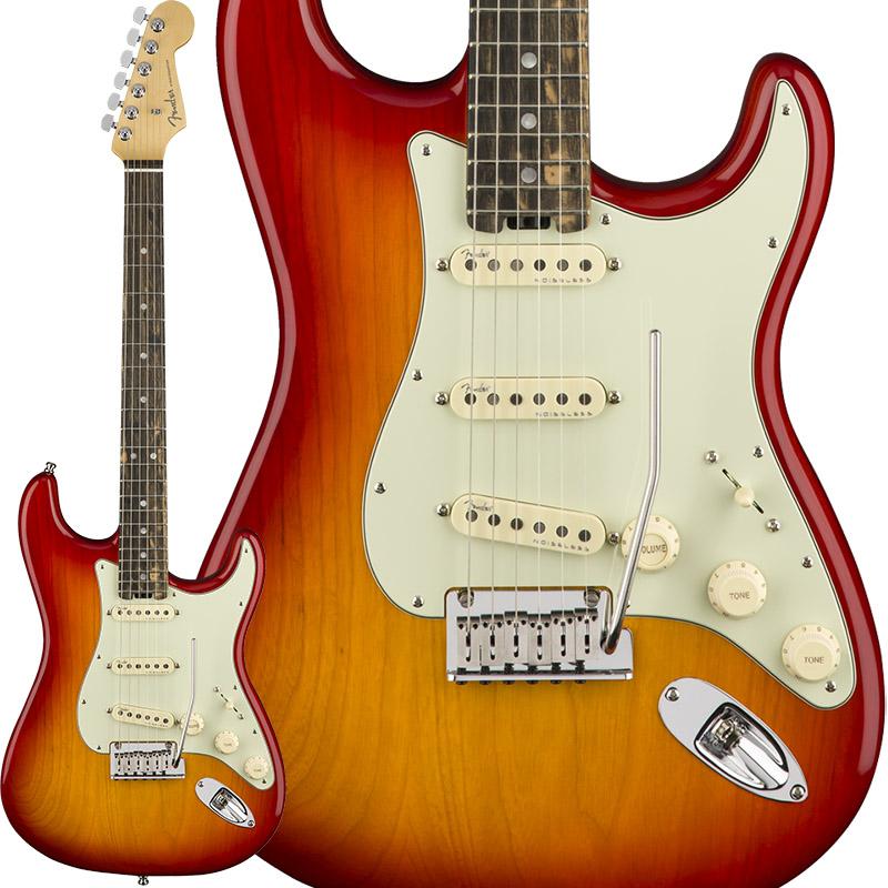 Fender American Elite Stratocaster Ash (Aged Cherry Burst/Ebony) [Made In USA] 【大幅プライスダウン!】 【ikbp5】