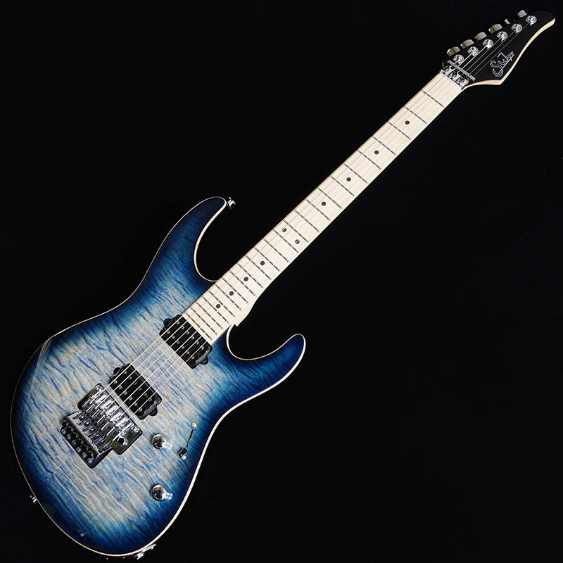Suhr Guitars Pro Series Modern Pro Floyd HH Faded Trans Whale Blue Burst/Maple [#JS3W9F]