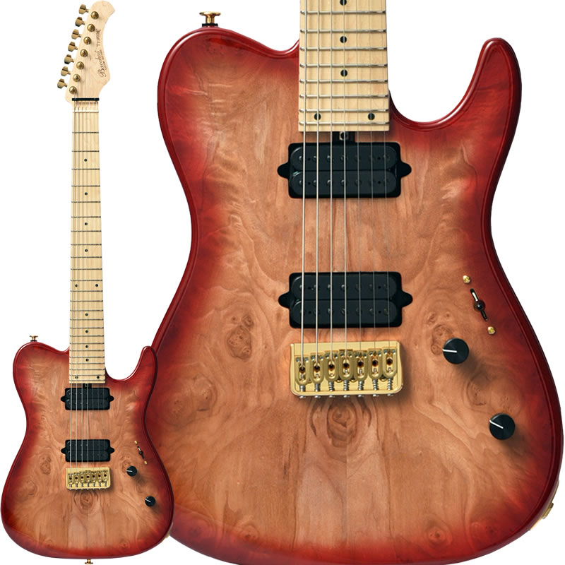 "Bacchus INSPIRATION CUSTOM T7-SPECIAL-I.C/M ""Burl Maple Top"" (RED-BS) #170019"