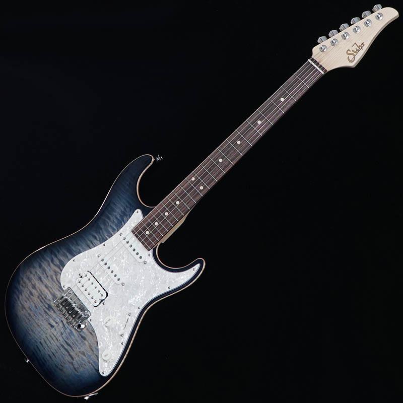 Suhr Guitars Pro Series Standard Pro 510 SSH Faded Trans Whale Blue Burst/Rosewood [#JS7Y5J]