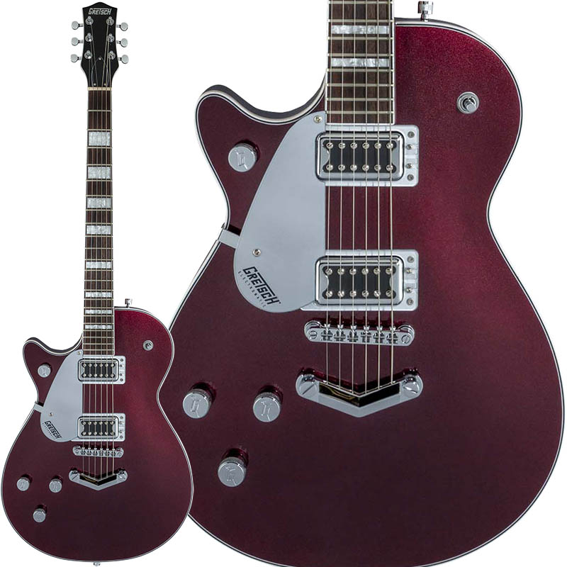 GRETSCH Electromatic Collection G5220LH Electromatic Jet BT Single-Cut with V-Stoptail, Left-Handed (Dark Cherry Metallic)