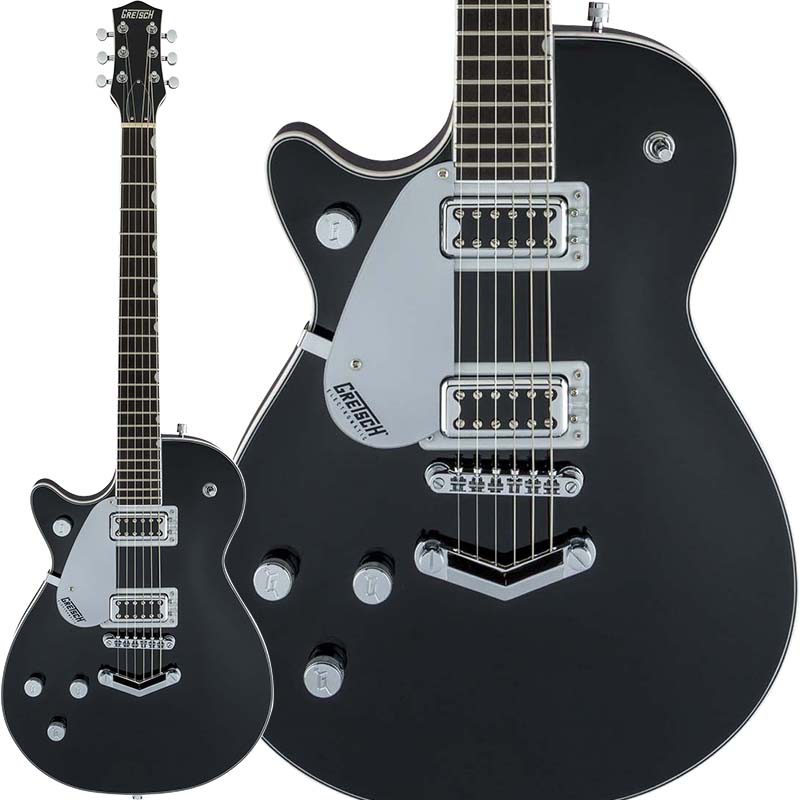 GRETSCH Electromatic Collection G5230LH Electromatic Jet FT Single-Cut with V-Stoptail, Left-Handed (Black)