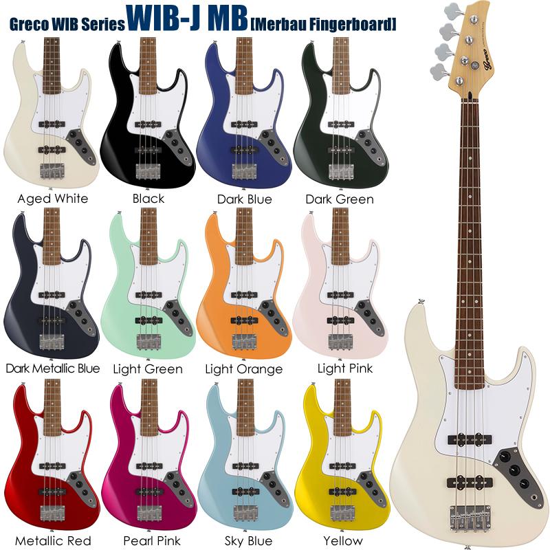 Greco WIB-J MB [Merbau Fingerboard] 【お取り寄せ】