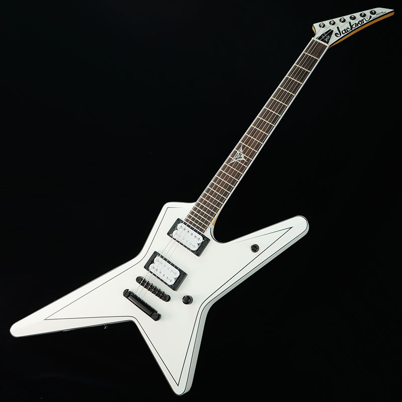 Jackson USA Signature Gus G. Star (Satin White with Black Pinstripes)