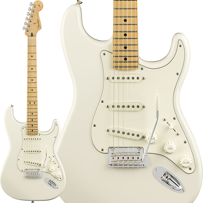 Fender Player Stratocaster (Polar White/Maple) [Made In Mexico] 【ikbp5】