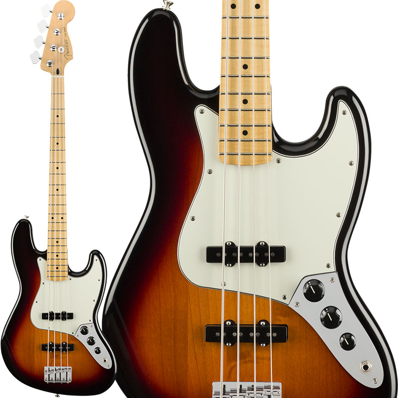 Fender Player Jazz Bass (3 Color Sunburst/Maple) [Made In Mexico] 【ikbp5】