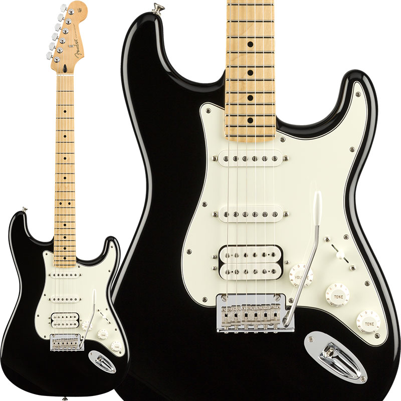 Fender Player Stratocaster HSS (Black/Maple) [Made In Mexico] 【ikbp5】 【FENDER THE AUTUMN-WINTER 2018 CAMPAIGN】