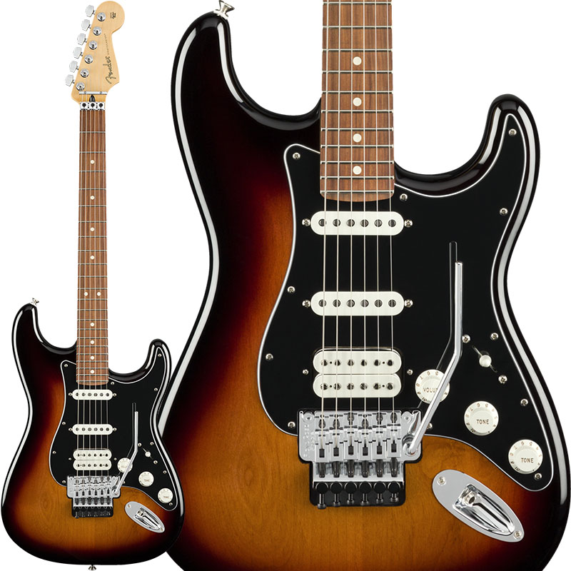 Fender Player Stratocaster with Floyd Rose HSS (3-Color Sunburst/Pau Ferro) [Made In Mexico] 【7月中旬以降順次入荷】 【ikbp5】