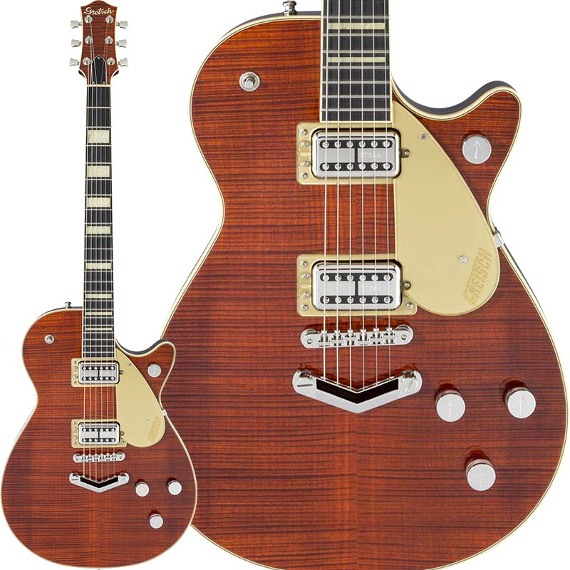 GRETSCH G6228FM Players Edition Jet BT with V-Stoptail (Bourbon Stain)