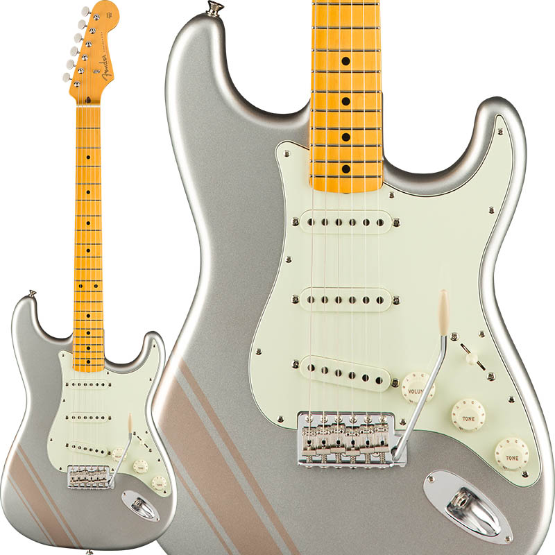 Fender FSR Made In Japan Traditional 50s Stratocaster with Competition Stripe (Inca Silver with Shoreline Gold Stripes) [Made in Japan] 【ikbp5】