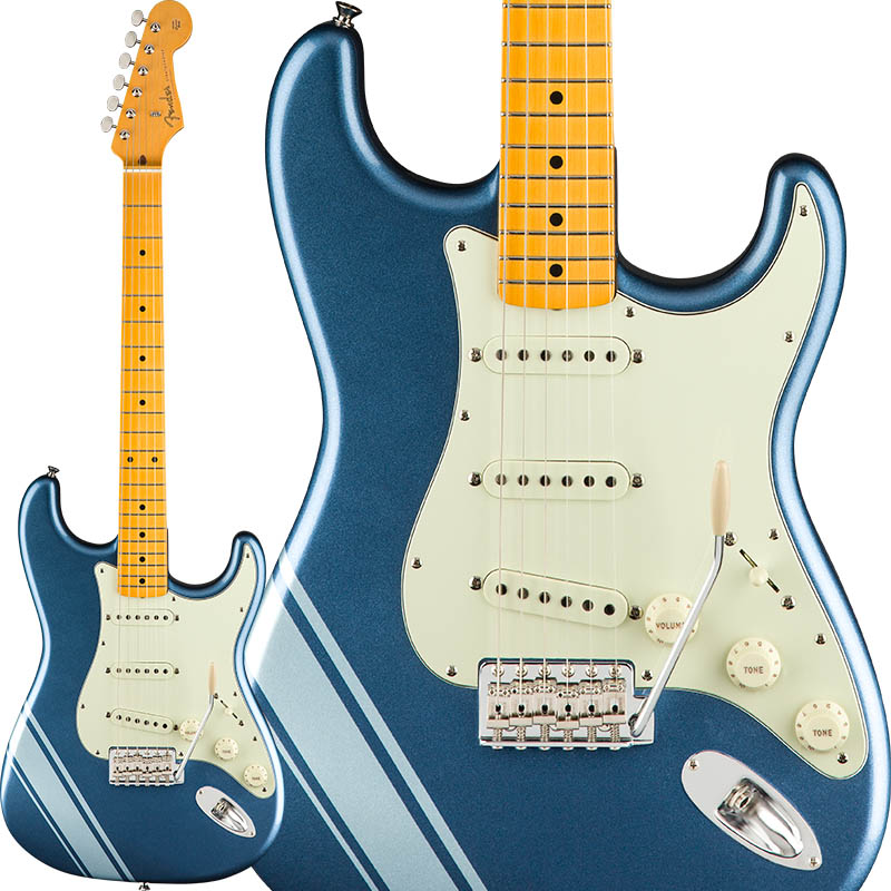 Fender FSR Made In Japan Traditional 50s Stratocaster with Competition Stripe (Lake Placid Blue with Ice Blue Metallic Stripes) [Made in Japan] 【ikbp5】