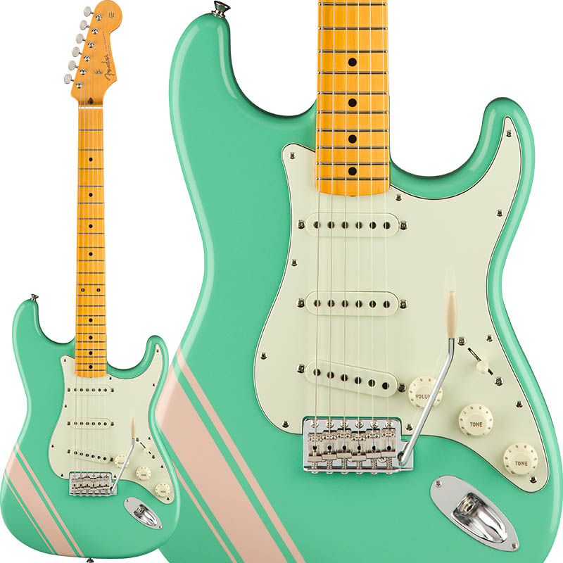 Fender FSR Made In Japan Traditional 50s Stratocaster with Competition Stripe (Surf Green with Shell Pink Stripes) [Made in Japan] 【ikbp5】