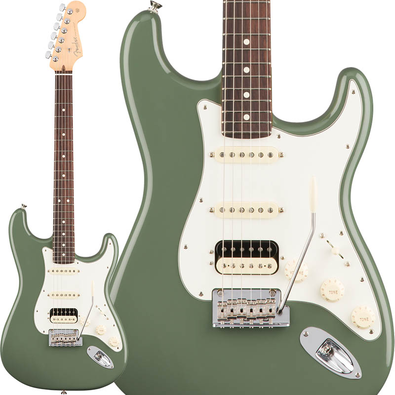 Fender American Professional Stratocaster HSS Shawbucker (Antique Olive/Rosewood) [Made In USA] 【ikbp5】
