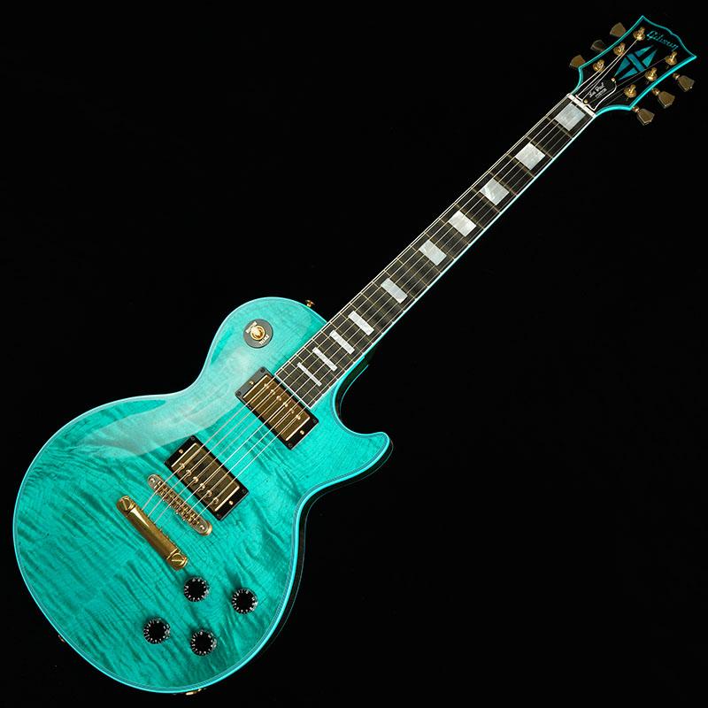Gibson CUSTOM SHOP Les Paul Custom Figured Plain Top Stealth/Aqua Blue [CS602489] 【限定タイムセール】