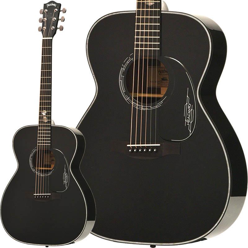 【アコースティックギター】 Headway HF-JET BLACK DX 【特価】