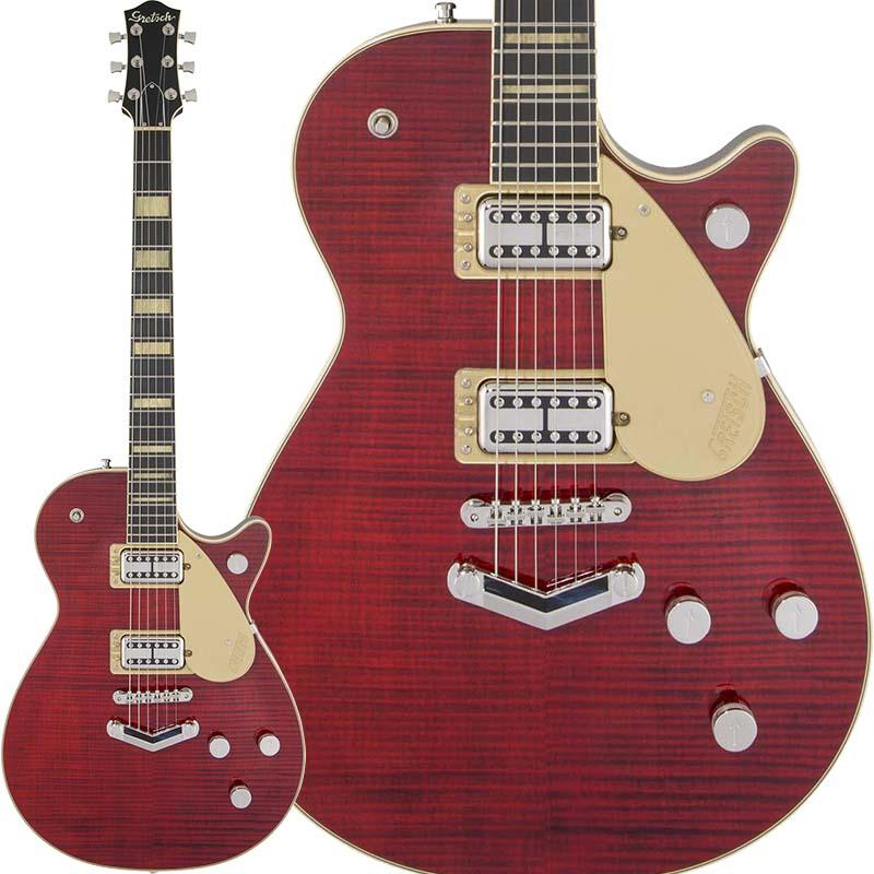 【エレキギター】 GRETSCH G6228FM Players Edition Jet BT with V-Stoptail (Crimson Stain)