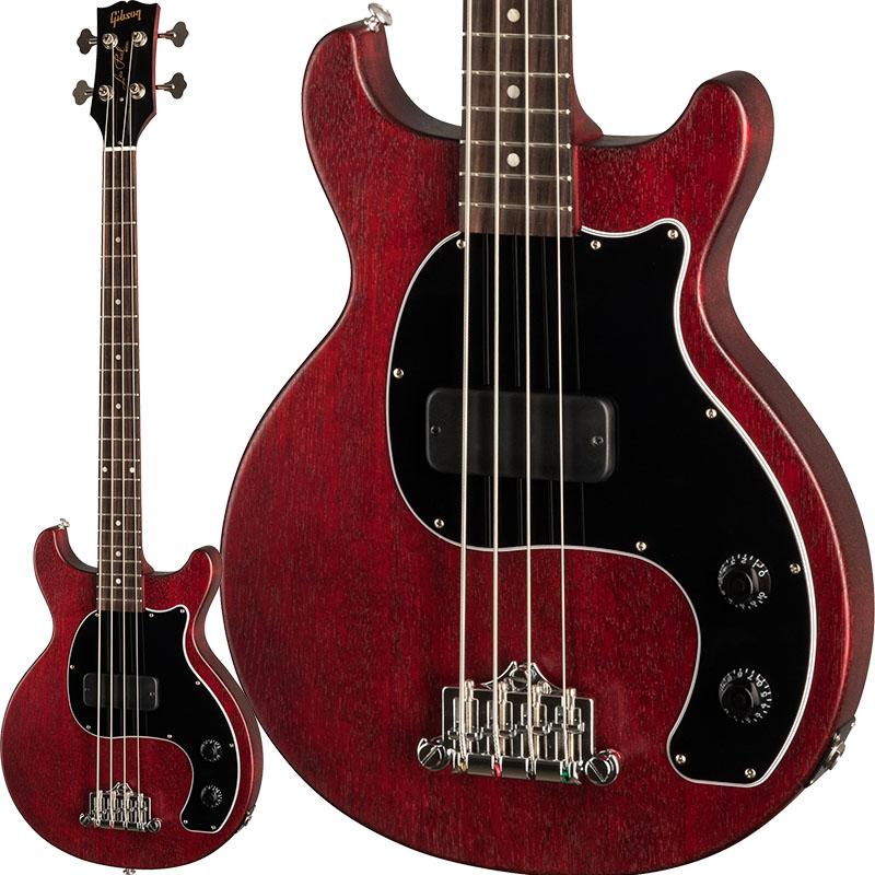 """Gibson Les Paul Junior Tribute DC Bass (Worn Cherry) 【今ならギブソン純正アクセサリーパックに加えて""""ピックケース""""をプレゼント!】 【ikbp5】"""