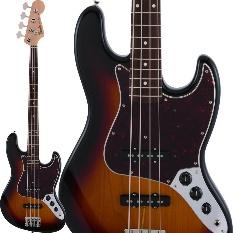 Fender Made in Japan Heritage 60s Jazz Bass (3-Color Sunburst) 【ikbp5】 【数量限定!ギターアンプ VOX Pathfinder10プレゼント!!】